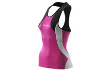 Skins TRI400 Women's Racer Back Top black/orchid